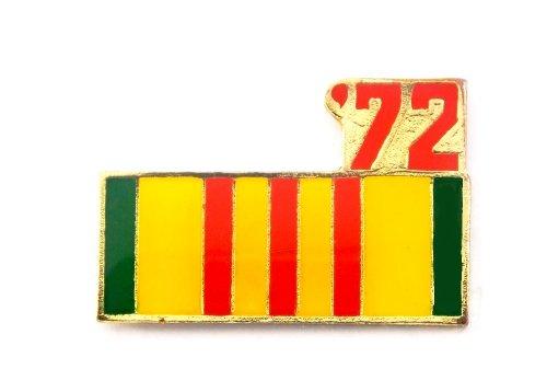 (Vietnam Veteran 1972 Ribbon Lapel Hat Pin Marines Army Navy Air Force PPM800)