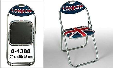 DonRegaloWeb - Silla de metal plegable con asiento y ...