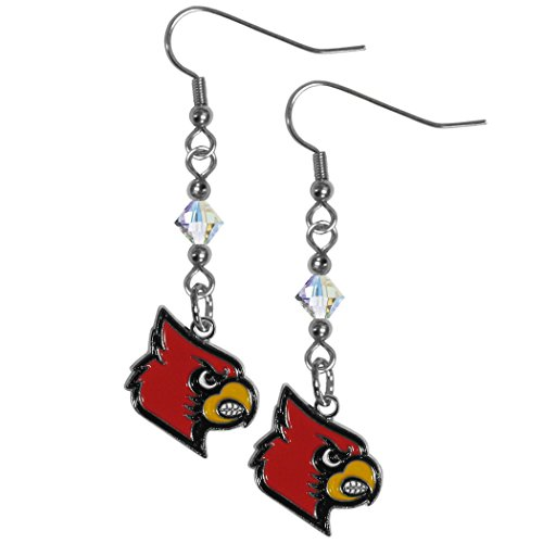 NCAA Louisville Cardinals Crystal Dangle Earrings