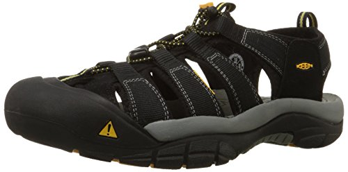 Keen Men's Newport H2 Sandal,Black,7 M US