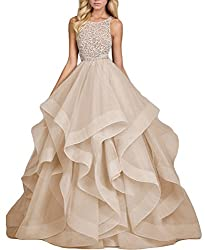 Long Gown With Heavy Bead And Crystal