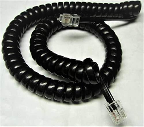 Lot of 3 Black 9' Ft Handset Cords for Panasonic KX T7000 T7100 T7200 DBS VB-42000 43000 Series Phone T7020 T7030 T7220 T7230 T7250 43210 43220 43223 43225 43230 43233 (3-Pack) by DIY-BizPhones