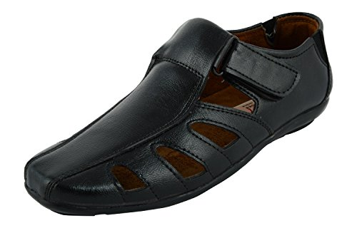 cb87d3ec2682 Safari Shoes Men s Black Synthetic Outdoor Sandals 7 UK  Buy Online at Low  Prices in India - Amazon.in