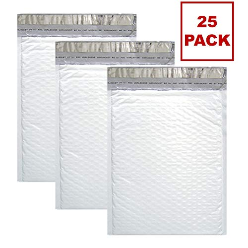 Sales4Less #2 Poly Bubble Mailers 8.5X12 inches Padded Envelope Mailer Waterproof Pack of 25