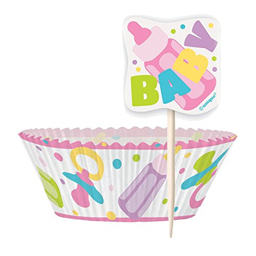 Pink Baby Shower Cupcake Kit for 24