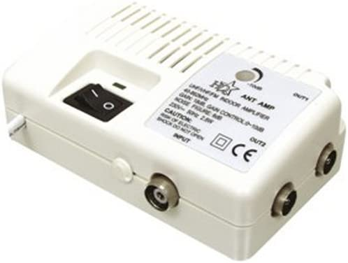 HQ - Amplificador de antena con dos salidas (18dB): Amazon ...