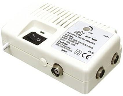 HQ - Amplificador de antena con dos salidas (18dB)