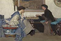 Oil Painting 'Emile Vloors - The Chess Game', 30 x 45 inch / 76 x 115 cm , on High Definition HD canvas prints is for Gifts And Bar, Basement And Nursery Decoration, ideas
