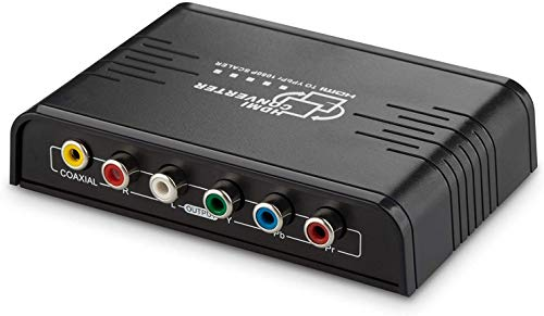 Cingk 1080P HDMI To Component Video (YPbPr) Scaler Converter Adapter with Coaxial Audio Output and R / L Audio Support Windows 10