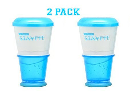 Stay Fit Cool Gear Cereal to Go Ez Freeze (2 Pack) (Cup To Freeze compare prices)