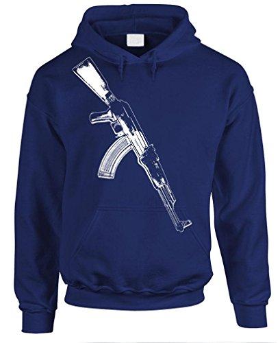 AK-47 - auto assault rifle gun rights Pullover Hoodie, XL, Navy