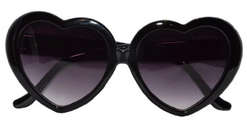 Zebra Diva Bowtique Women's Large Oversized Heart Shaped Cute Love Fashion Eyewear Black/Black Sunglasses 55