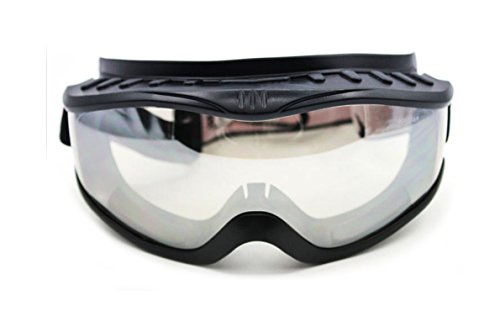 'Fit Over Glasses' Anti-fog Riding Goggles (Black Frame Clear Lens) ()