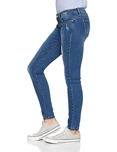 Blu medium Only Donna Blue Jeans Denim Skinny 0UwqwBz