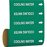 Brady Pipe Marker Cooling Water Green