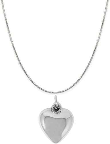 Optional Sterling Silver Chain Raposa Elegance Sterling Silver Rose of Texas Map Charm Necklace