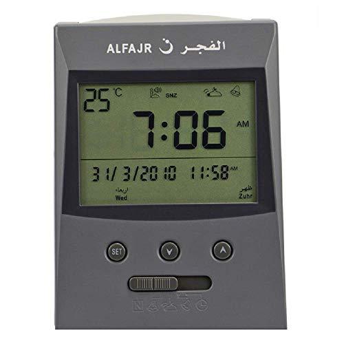 Al Fajr Vertical Grey Azan Clock (Model Cs-03)