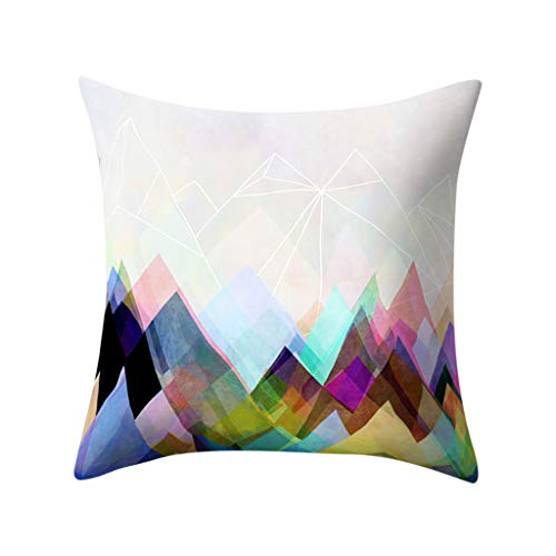 Throw Pillow Cover, DaySeventh Geometric Polyester Pillowcase Cushion Cover Square Pillowcase Home Decoratio 18x18 Inch 45x45 cm