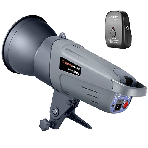 Neewer 400W GN70 Studio Flash Strobe with Wireless Trigger Transmitter, Built-in 2.4G Wireless Receiver System, Recycle time 0.4-1.8 seconds, Bowens Mount, VE-400 Plus, German Engineered by Neewer