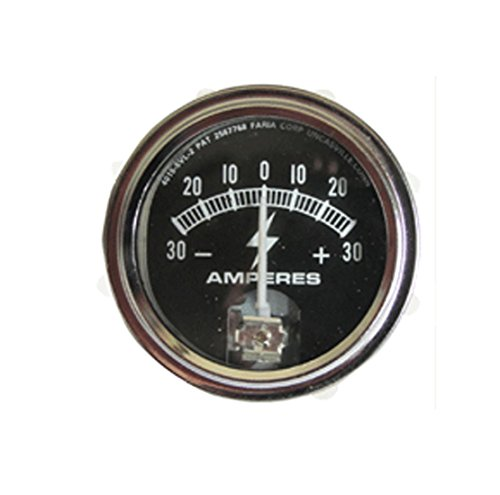 RTP Tractor Ammeter Gauge (30-0-30) with Chrome Ring ()