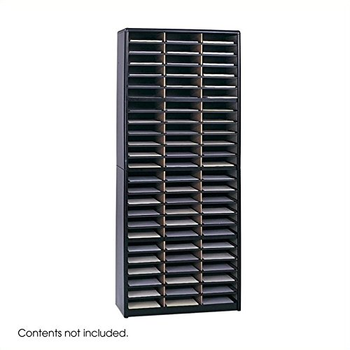 - Safco Products Value Sorter Literature Organizer, 72 Compartment 7131BL, Black, Commercial-grade Steel Shell, Fiberboard Shelves, Value-priced