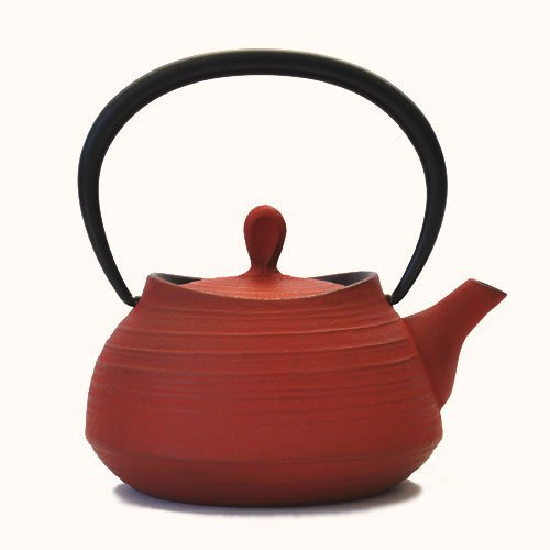 - Southern iron teapot brush marks Hakeme 0.4L Red (japan import)