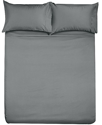 Full Camper (The Great American 6 Inch Deep Pocket RV Camper Full Sheet Set (49x74) Solid Grey - 1800 Series Brushed Microfiber - for RV- Trucks, Campers, Airstream, Bus, Boat and Motorhomes)