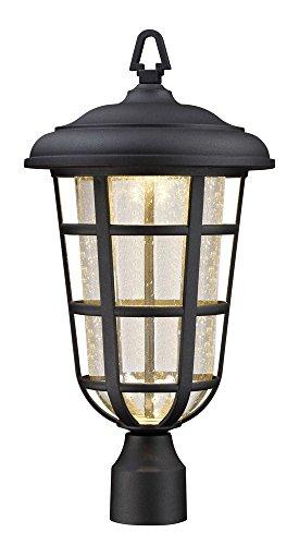 Designers Fountain LED33916-BK Triton 11'' Led Post Lantern by Designers Fountain
