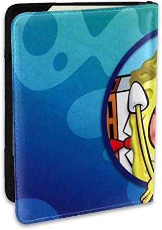 スポンジボブ パスポートケース 6.5インチ 防水 軽量 パスポートバッグ 旅行 薄型 パスポートホルダー 航空券対応 パスポートポーチ 男女兼用 PU カードケース スキミング防止 かわいい おしゃれ