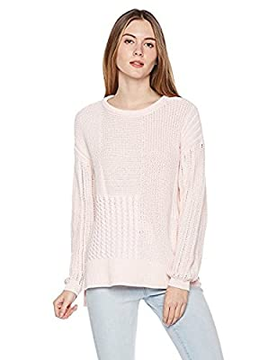 True Angel Women's Long Sleeve Crew Neck Multi Pattern Pullover