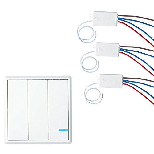 GREENCYCLE Wireless Lights Switch Kit, Remote Wall Switch Wireless Control Lamps Fans Devices Appliances On/off, Self-Powered Transmitter (1PK 3-Way Switch and 3PK Receiver) by greencycle (Image #5)
