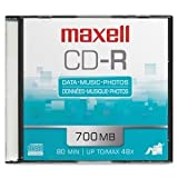 MAXELL CD Recordable Media - CD-R - 48x - 700 MB - 1 Pack Slim Jewel Case 1PK CDR 700 MEDIA / 648201 /