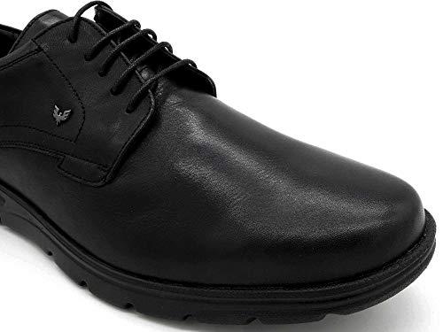 Para Schwarz Hombre 6610 Becool Negro Piel Cordones Zapatos Lisa De YHqw1CA