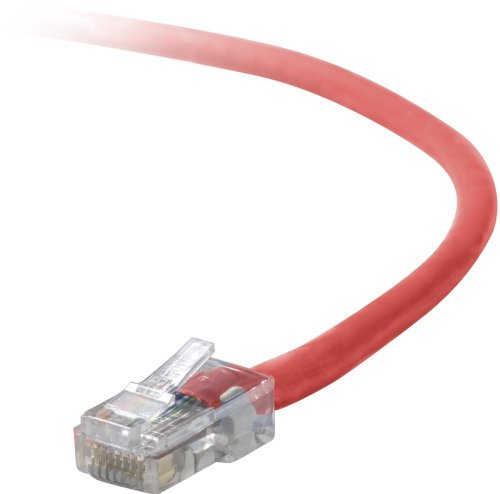 Belkin Patch Cable - 1 ft ( A3L791-01-RED ) Crossover Patch Cord