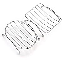 Topinon Stainless Steel Soap Stand Holder Functional Bathroom Stainless Soap Dishs Tray Box Set of 2 pc Random Design