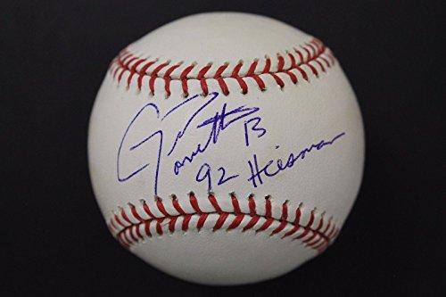 1992 Trophy Heisman - Gino Toretta Florida 1992 Heisman Trophy Autographed Signed Baseball Tristar JSA