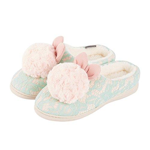 Esterno Lady Verde Traspiranti Comfort Cotone In Per Pantofole Scarpe Dww XPO4xUR