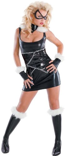 Marvel Black Cat Sassy Deluxe Teen Costume Teen 7-9 (Black Cat Marvel Cosplay Costume)