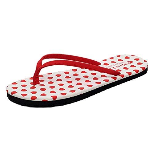 YOUJIA Mujer / Chicas Verano Zapatos de playa Casual Chanclas Zapatillas Adornado #2 Corazón