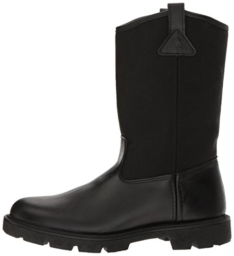 Rocky Men's Men's 10 Inch Pull-on 6300 Work Boot,Black,10.5 XW US by Rocky (Image #5)