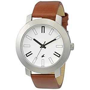 Fastrack Casual Analog White Dial Watch for Men -NL3120SL01