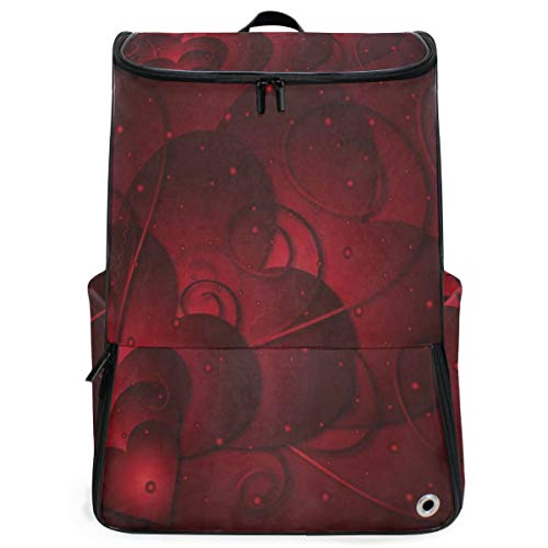 Laptop Backpack Love Heart Happy Valentines Day Duffle Backpack for Men Large Vintage ()