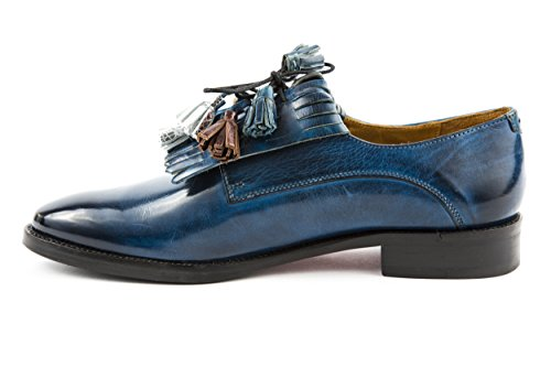 MELVIN & HAMILTON Damen Betty 6 Halbschuhe Slipper Loafer Blau Gr. 37 - 38