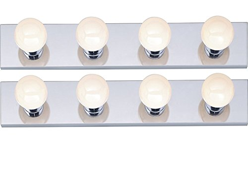 Nuvo 030924 77/193 Four Light Vanity Strip, Polished Chrome, 24-Inch, (2 Pack)
