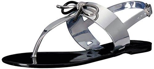 Tahari Women's Jay Flat Sandal Silver TA rrx768wTq