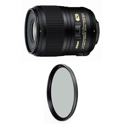 Nikon 60mm f/2.8G ED Auto Focus-S Micro-Nikkor Lens w/ B+W 62mm XS-Pro HTC Kaesemann Circular Polarizer