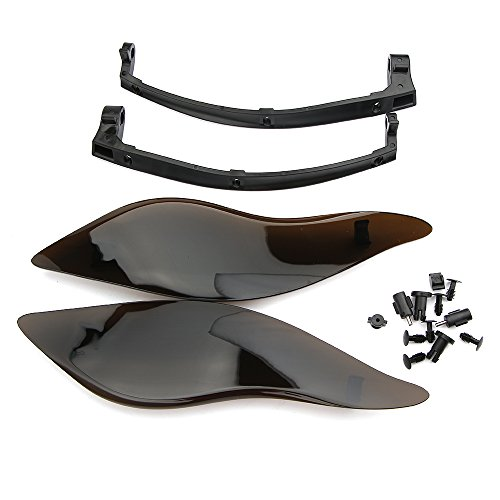 Motorcycle Black ABS Adjustable Side Wings Air Deflectors Fairing Side Cover Shield For Harley Touring Street Glide