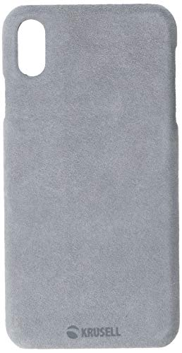Krusell Broby Case for Apple iPhone Xs Max - Premium Suede Case - Gray