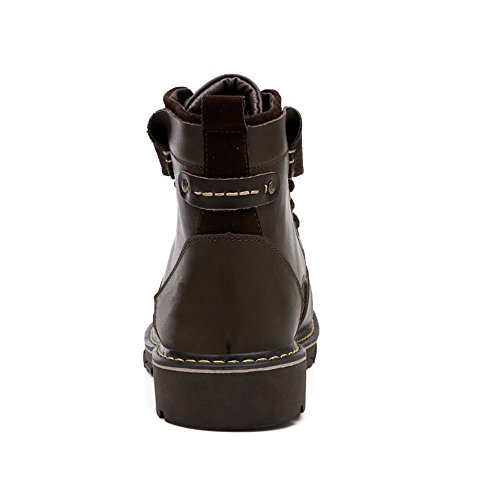 High Shoes Boots Top TAOFFEN Men's Up Brown Lace Chukka nSSAUq