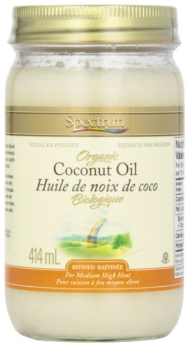 Spectrum Coconut Oil, Organic Refined, 414 gm